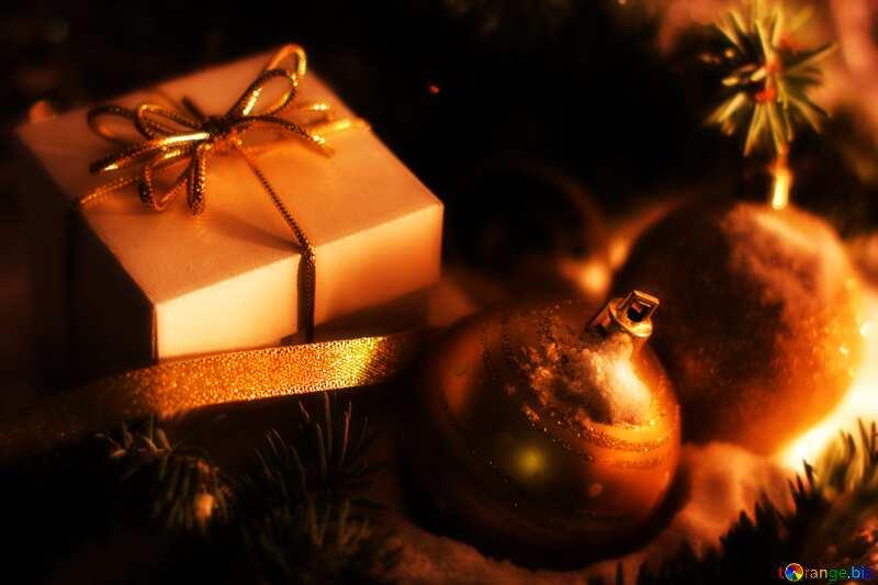 Christmas gifts dark blur frame №15365
