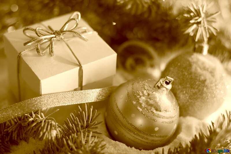 Christmas gifts sepia №15365