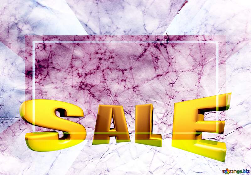 Texture of crumpled paper Sales promotion 3d Gold letters sale background Template №16030