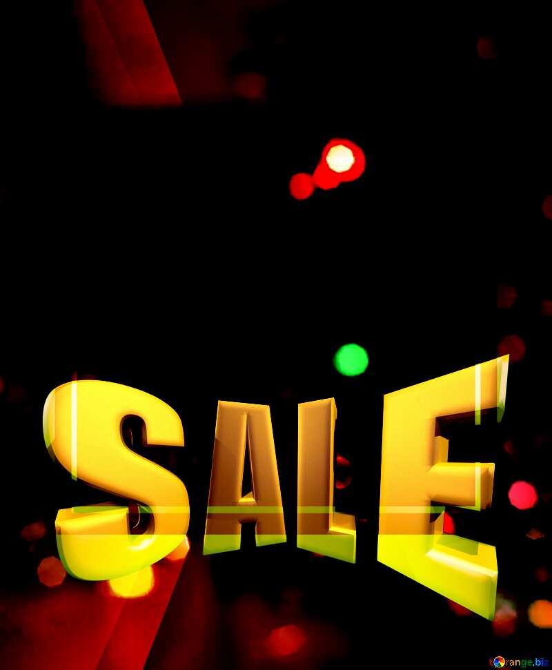 Christmas Sales promotion 3d Gold letters sale background №15110