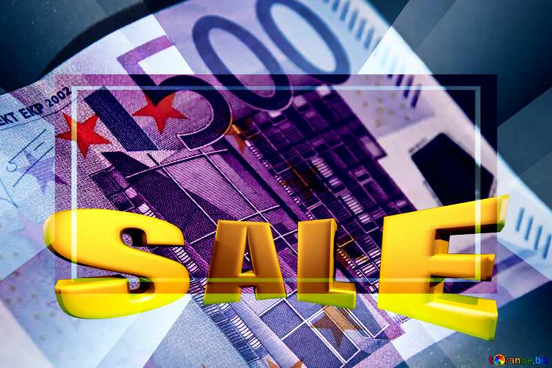 Euro currency 500 Sales promotion 3d Gold letters sale background Template №5906