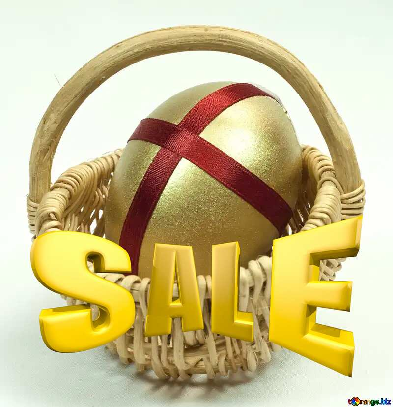 Gift at Easter Sales promotion 3d Gold letters sale background Template №8215