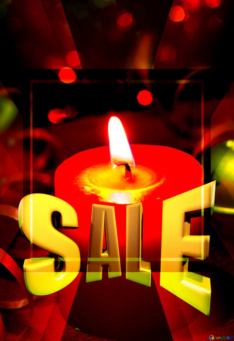 Holidays New Year Sales promotion 3d Gold letters sale background Template №15036