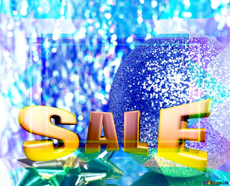 Christmas Poster Sales promotion 3d Gold letters sale background Template №6574