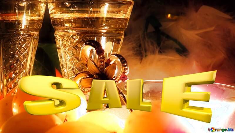 Romance Sales promotion 3d Gold letters sale background Template №15170