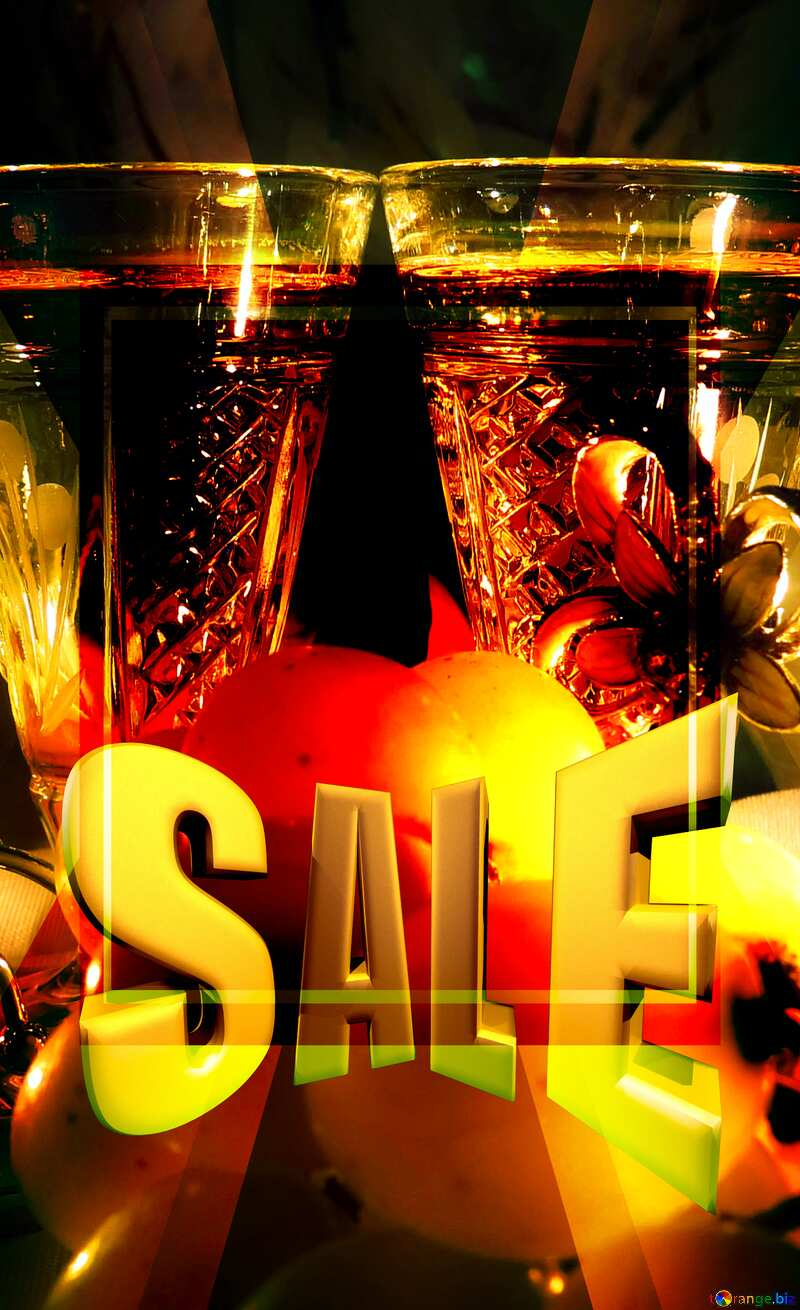 Romance Sales promotion 3d Gold letters sale background Template №15170