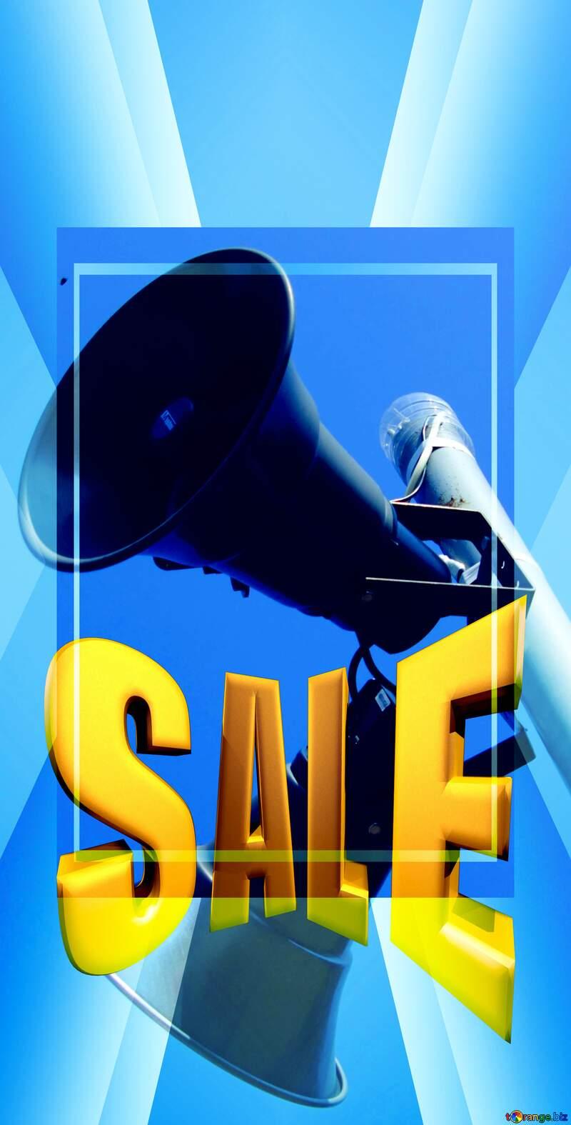 Speaker Sales promotion 3d Gold letters sale background Template №12903