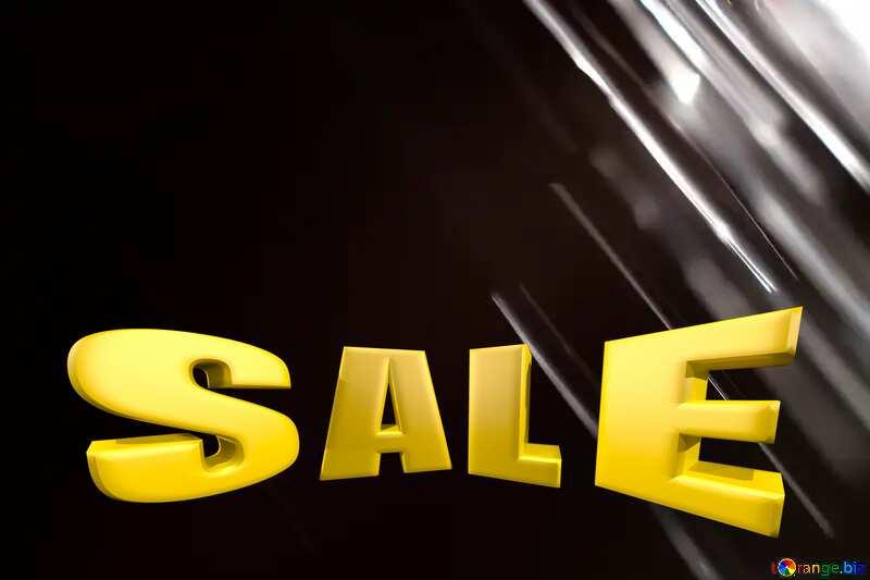 Splash water on black background Sale offer discount template Sales promotion 3d Gold letters №1700