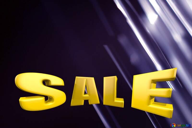Splash water on black blue background Sale offer discount template Sales promotion 3d Gold letters №1700