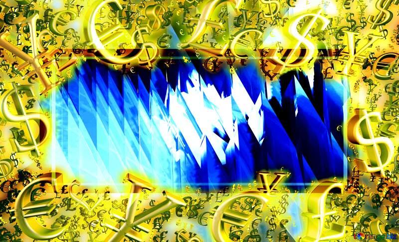 Gold money frame border 3d currency symbols business template Sales Promotion Futuristic Design Background №51524