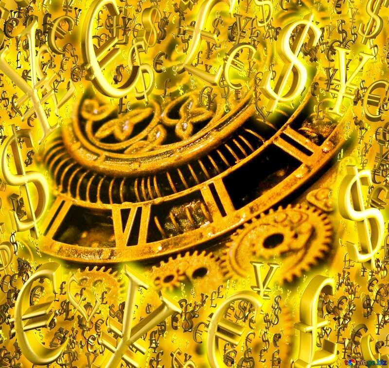 Vintage Gold money frame Steampunk Background №48981
