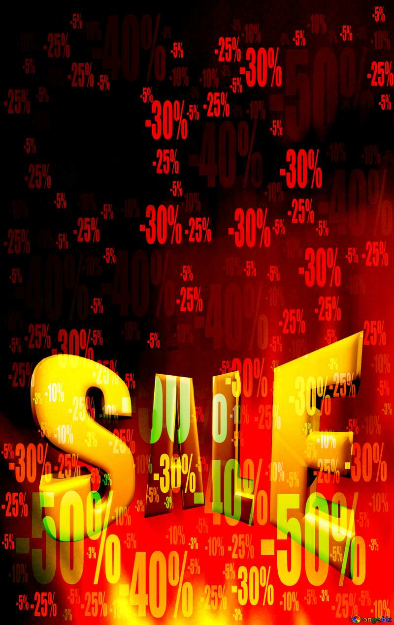 Hot SALE red fire banner Template Store discount dark background. №9546