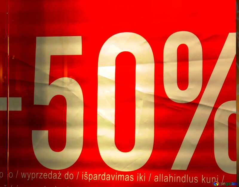 -50% Sale on red background №16264