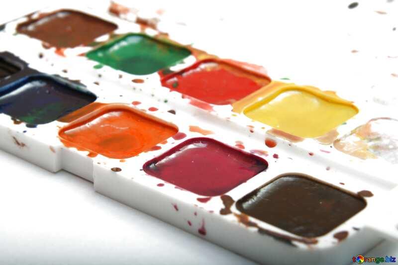 Bright colors. Watercolor paints. №18025