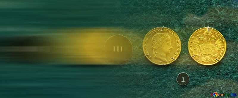 Austrian gold ducat blur left side №43589
