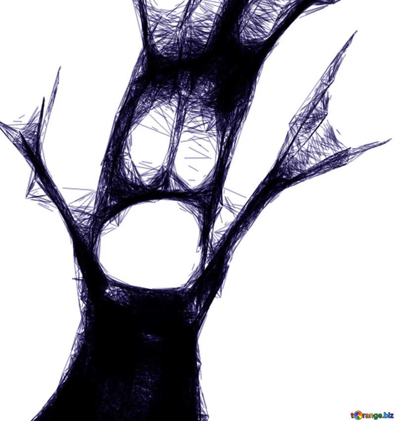 The best image. Clipart for Halloween live tree. №40480