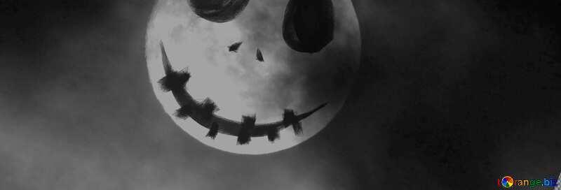Cubierta. Fondo de Halloween con la luna. №40471
