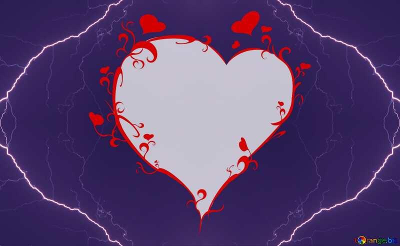 Frame heart lightning №44466