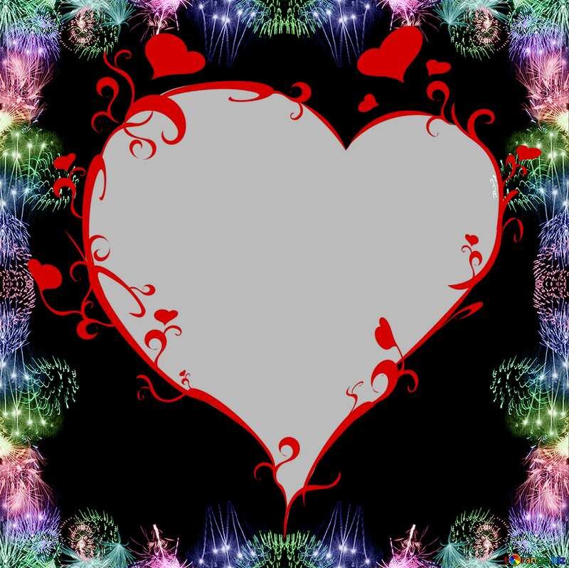 Frame heart salute №39960