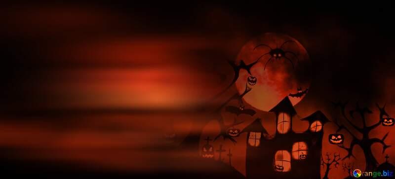 Halloween card background №40470