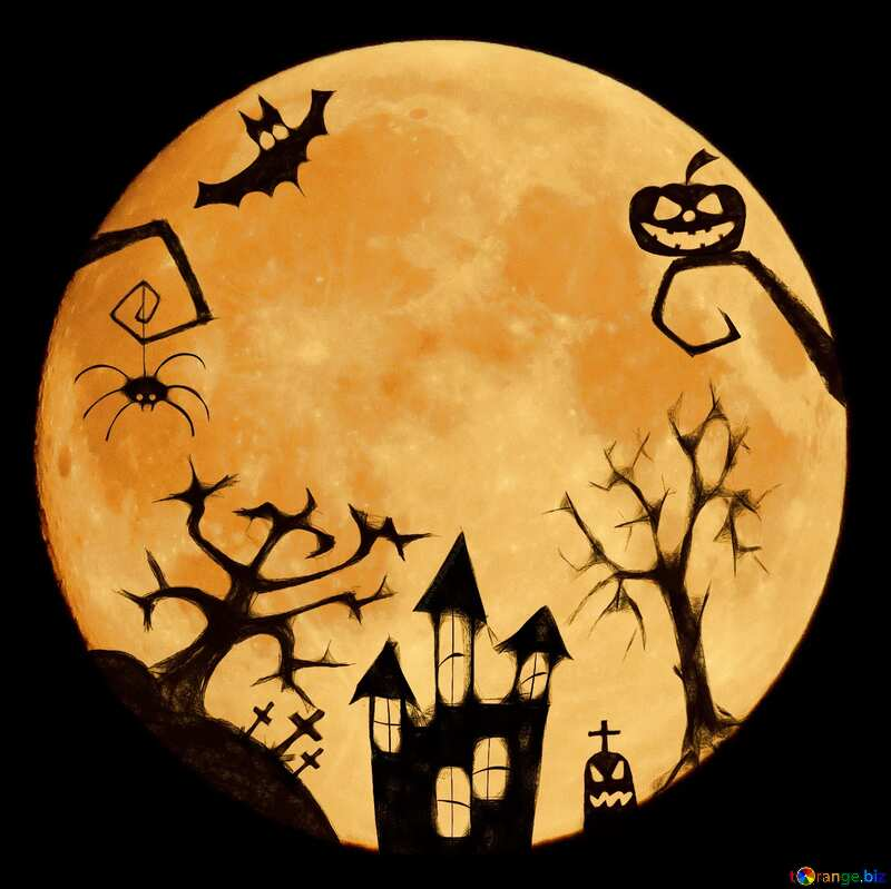 Halloween clipart with moon №40469