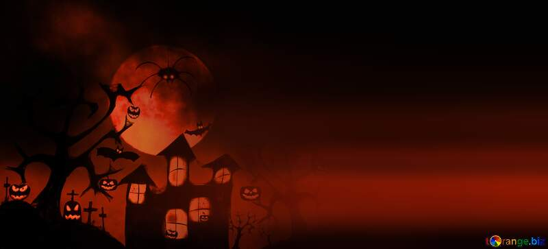 Red Halloween card background №40470