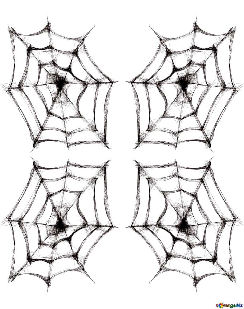 Texture. Clipart for Halloween Spider Web. №40484