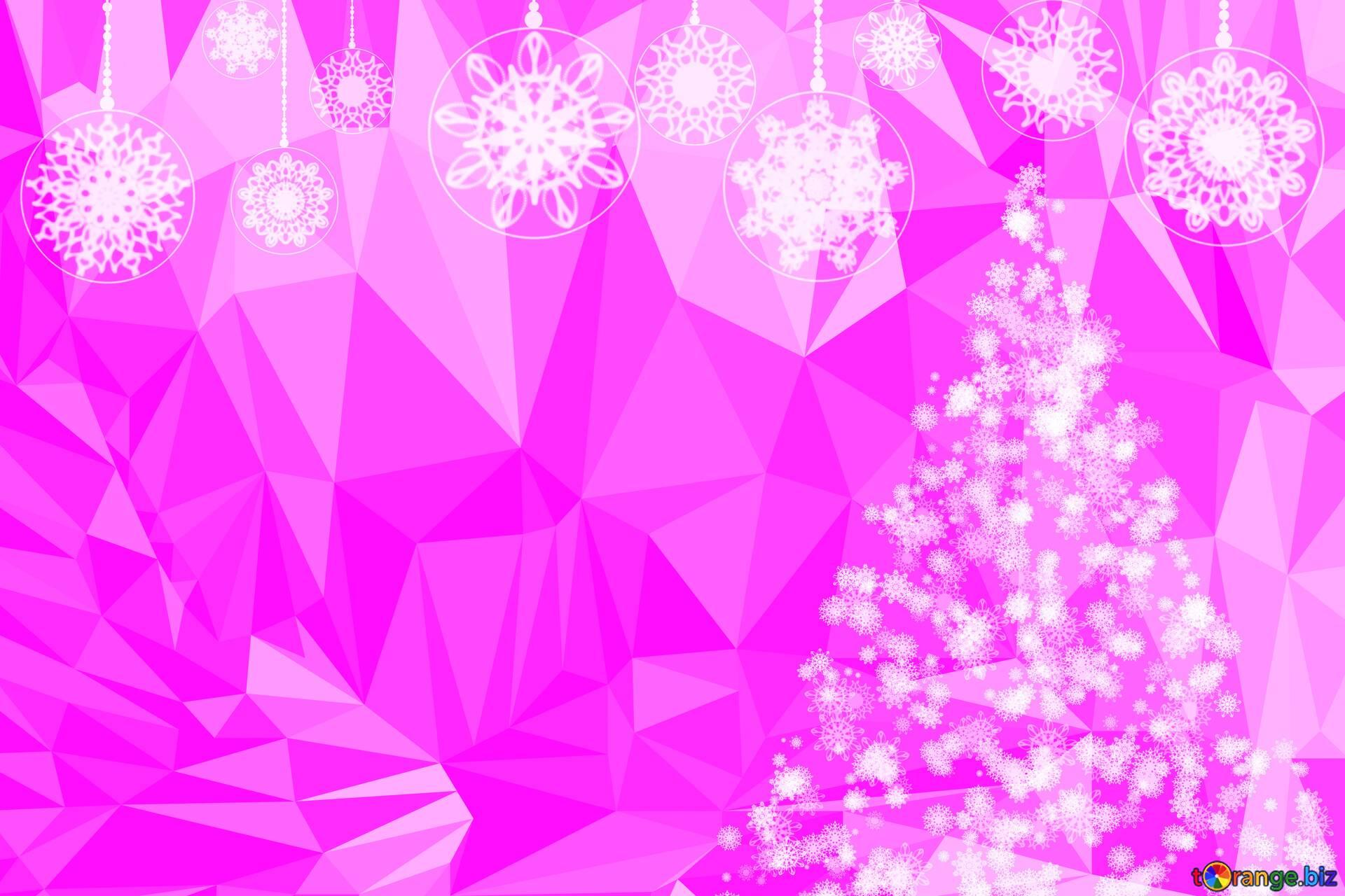 background polygon around triangles frame christmas white pink 200627