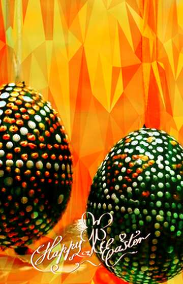 The effect of light. Very Vivid Colours. Fragment. Happy Easter card.