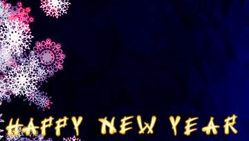 Colores muy vivos. Fragmento. Card with text Happy New Year.