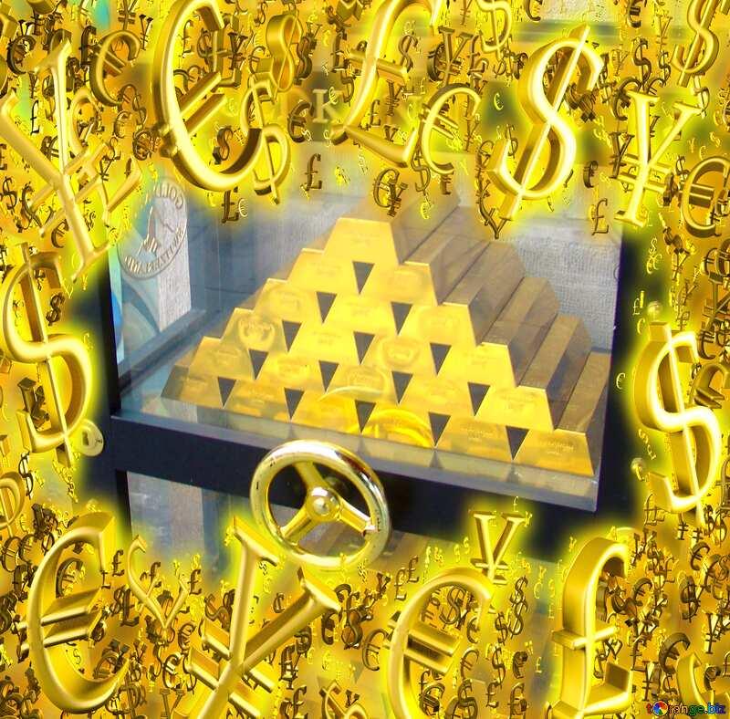Safe with gold frame finance. №50170