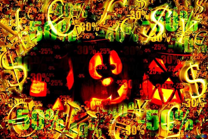 Pumpkins Halloween  sales background №24317