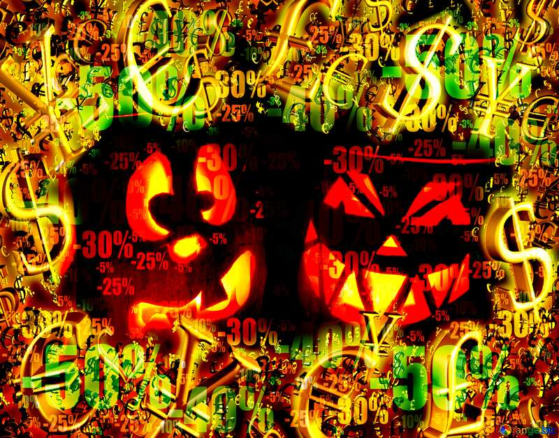 Halloween Sale Discount Background №24317