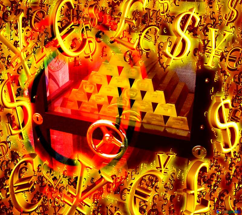 Safe with gold money finance. №50170