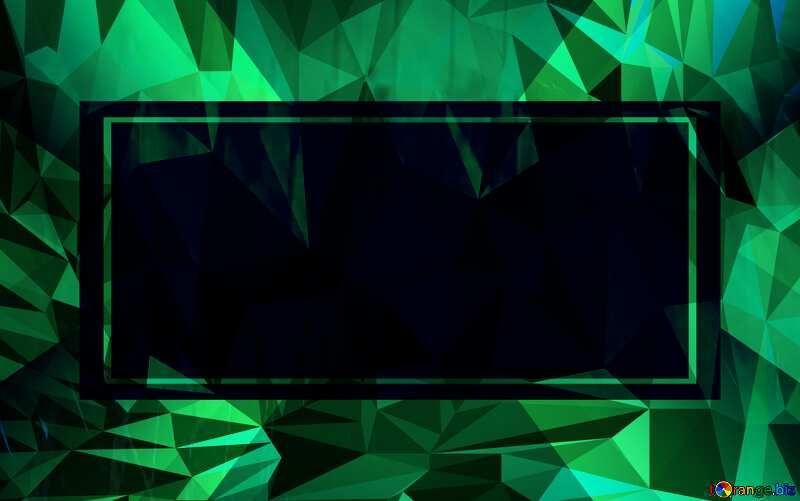 Geometric futuristic shape. frame border Polygon background with triangles №51526