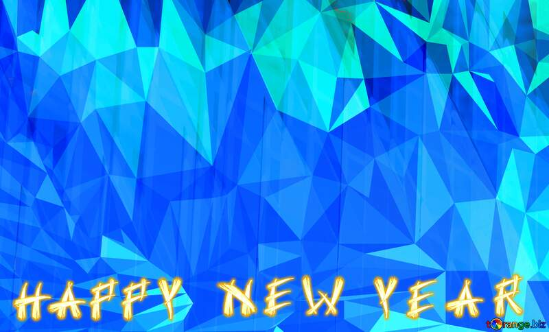 Happy New Year Christmas Polygon background with triangles №51526