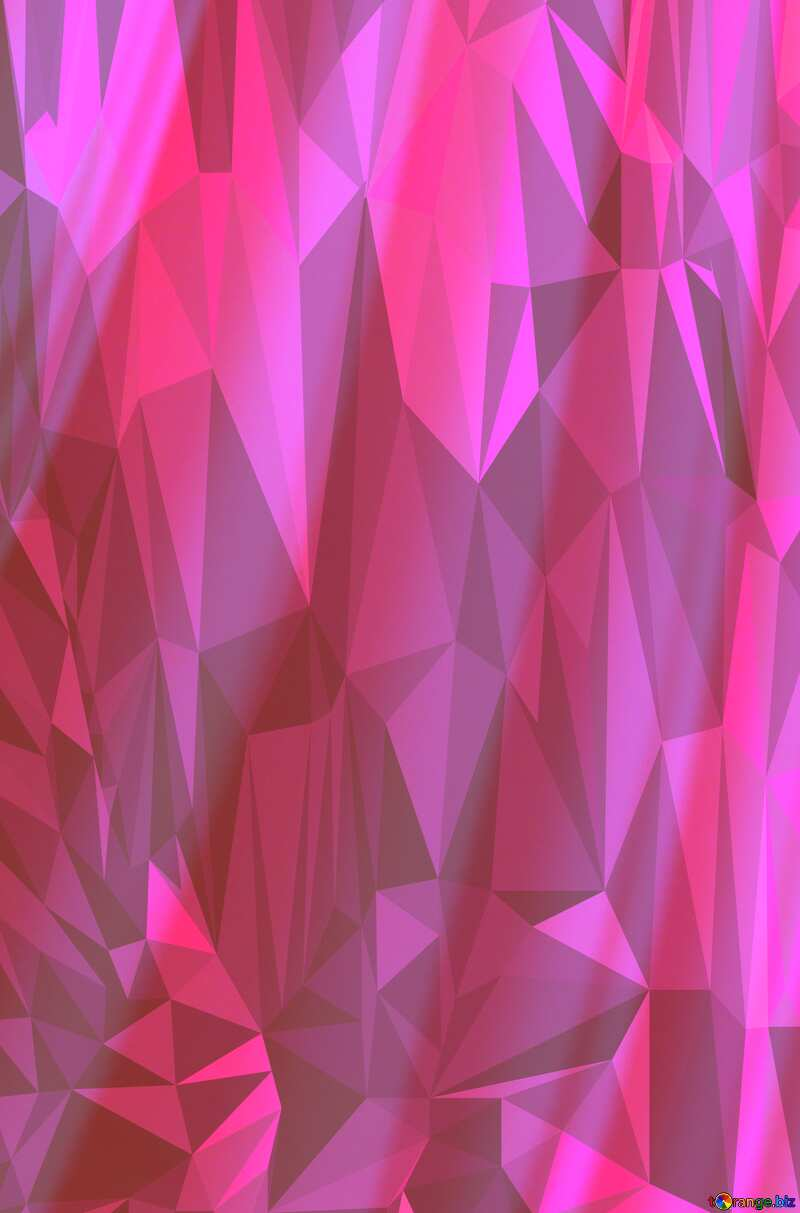 Sheets of paper pink Polygon background with triangles №27384