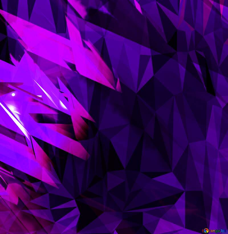 Purple abstract futuristic shape. Polygon background with triangles №51524