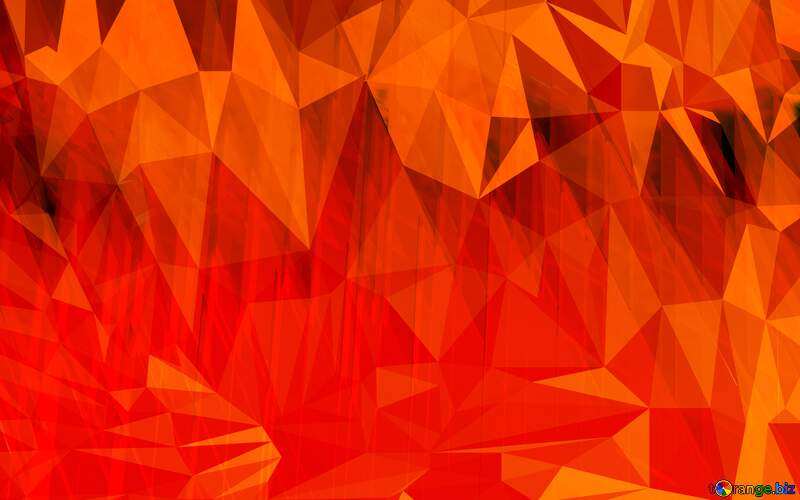 Red futuristic geometric Orange shape Polygon background with triangles №51526