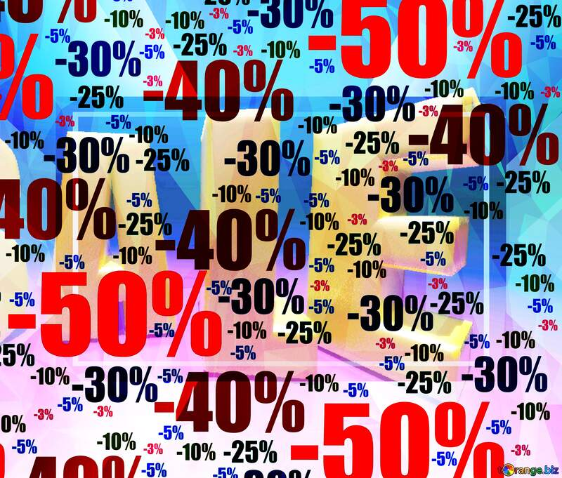 Store discount sale Template Polygon background with triangles №51545