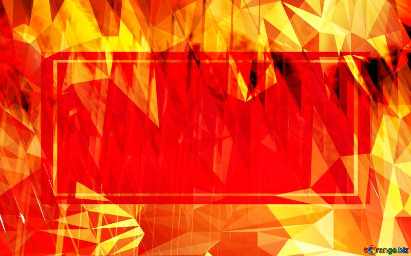 Red futuristic technology Template Polygon background with triangles №51526