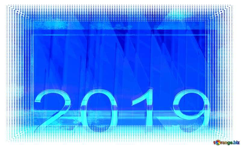 White frame border offset 2020 Blue Shape Background №51526