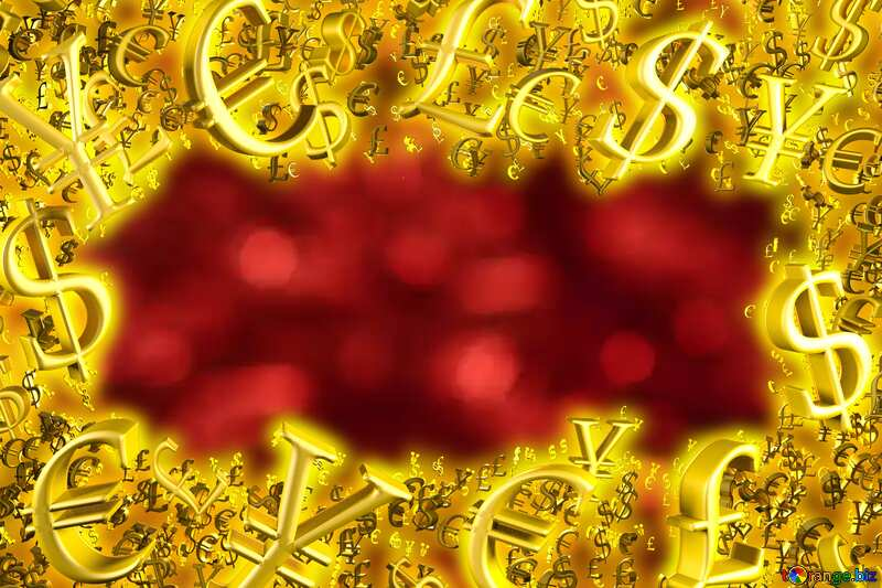Shiny red Christmas background Sale offer discount template Gold money frame border 3d currency symbols business №37825
