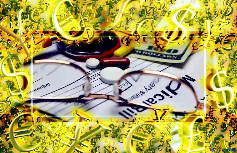 Medical   money Pharmacy frame №19692