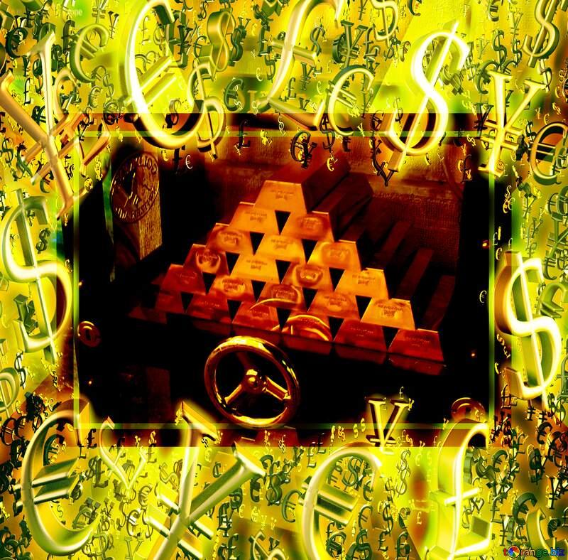 Safe with gold frame №50170