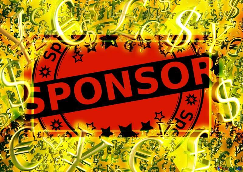 Sponsor Gold money frame border 3d currency symbols business template №42962