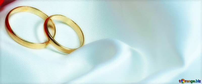 Wedding background two rings №7235