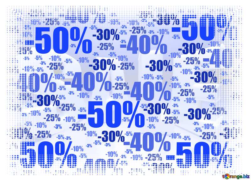 Store discount blue background. White frame border offset №51545