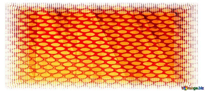 White frame border offset Metal Grill Futuristic Geometric Frame №51526