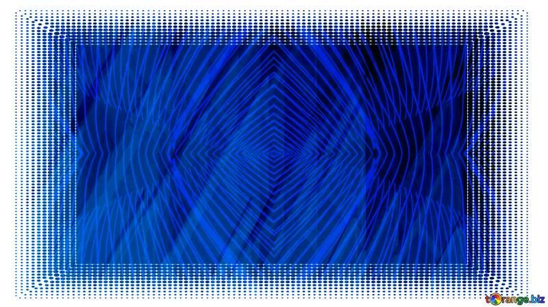 White frame border offset Background Blue Geometric Illustration Frame №51526